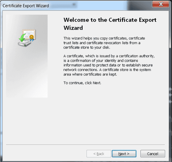 Certification Paths Window